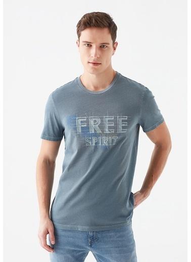 Mavi Free Spirit Baskılı Tişört Mavi